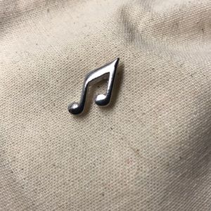 vintage music note pin